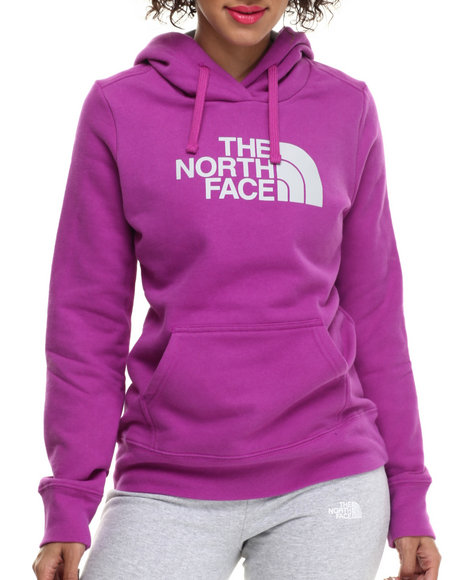The North Face - Women Grey,Purple Half Dome Hoodie