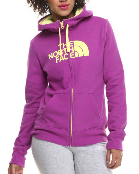 The North Face - Women Purple,Yellow Half Dome Full Zip Hoodie