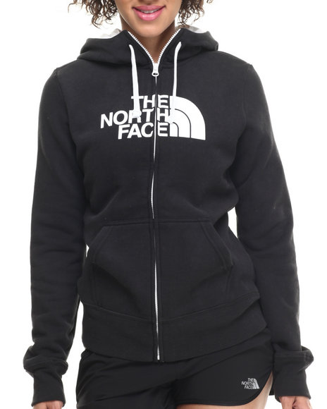 The North Face - Women Black,White Half Dome Full Zip Hoodie