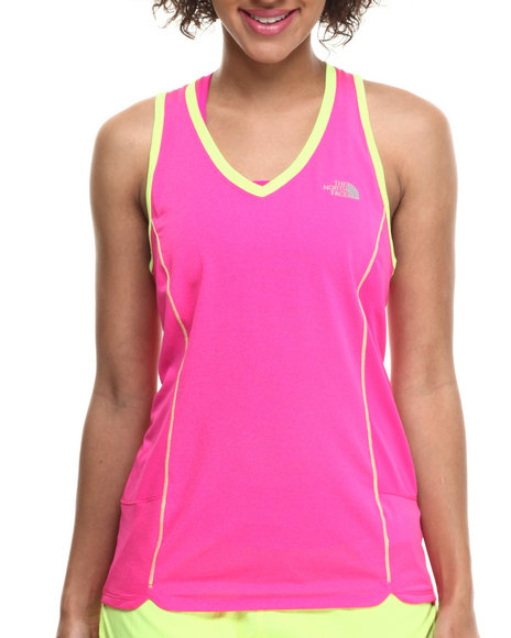The North Face - Women Pink Flash Dry Tech Running Tank