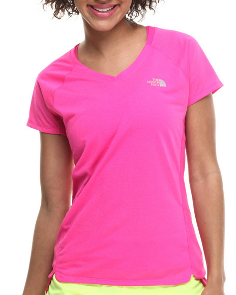 The North Face - Women Pink Flash Dry Tech Running S/S Tee