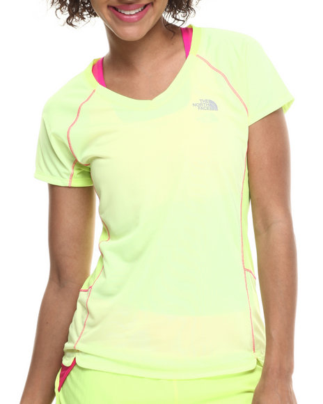 The North Face - Women Yellow Flash Dry Tech Running S/S Tee