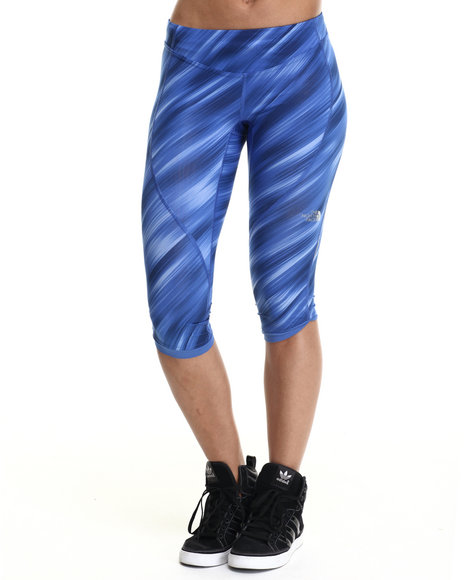 Ur-ID 215367 The North Face - Women Blue Flash Dry Tech Capri Tight