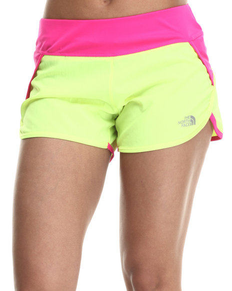 Ur-ID 215370 The North Face - Women Pink,Yellow Flash Dry Tech Running Short