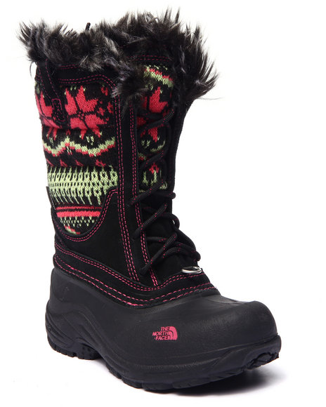 The North Face - Girls Black Shellista Lace Novelty Boots (11-6)