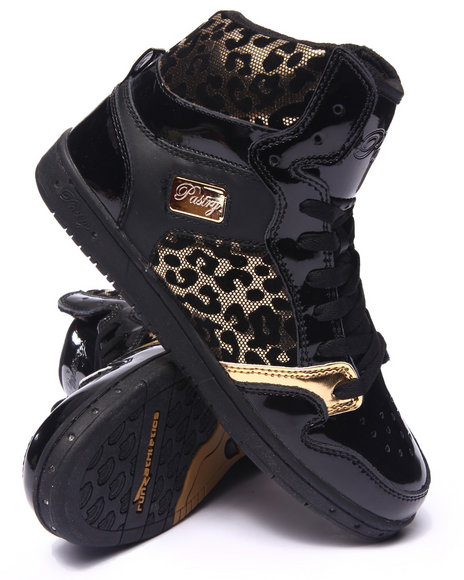 Ur-ID 215384 Pastry - Women Black,Gold Glam Pie Foil Cheetah Sneaker