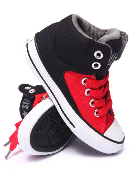 Converse - Boys Red Chuck Taylor All Star High Street Slip Sneakers