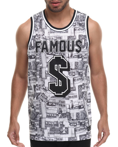 Famous Stars & Straps - Men White Bank Roll Mesh Tank
