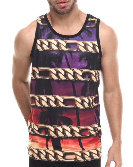 Famous Stars & Straps - Men Multi Chain Coast Mesh Tank