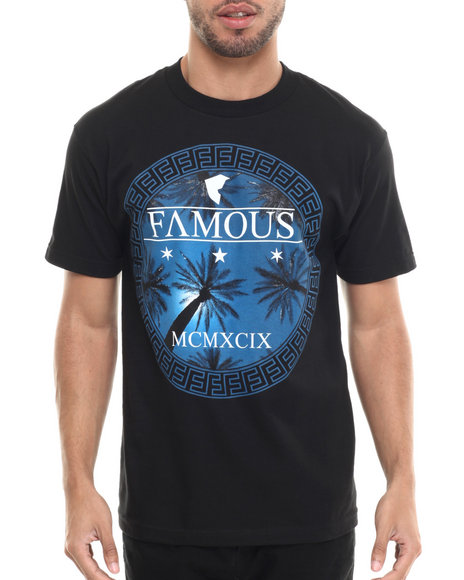 Famous Stars & Straps - Men Black Palm Lux Tee - $17.99