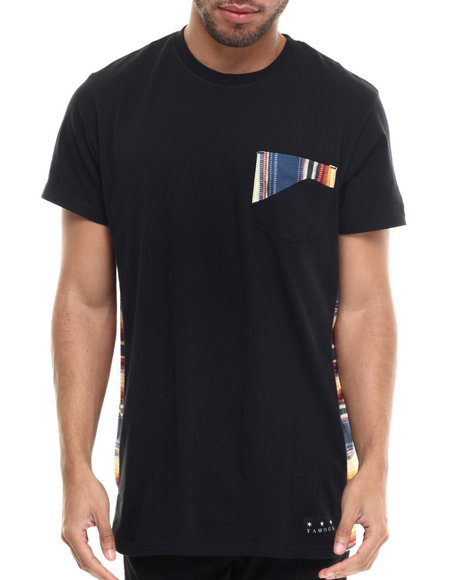 Famous Stars & Straps - Men Black Serape Pocket Tee