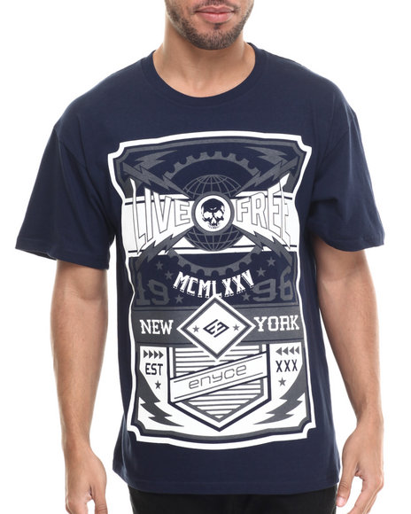 Ur-ID 215433 Enyce - Men Navy Live Free T-Shirt