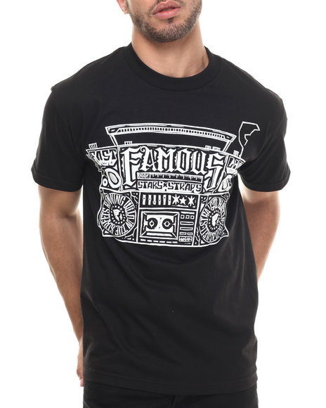 Famous Stars & Straps - Men Black Loud In The Streets Tee - $22.00