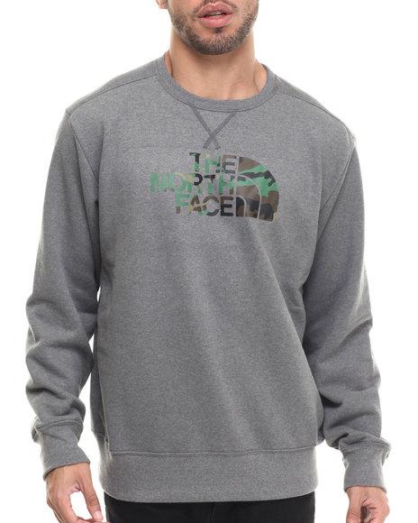 The North Face - Men Grey Half Dome Fleece Crew Sweatshirt