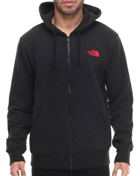 The North Face - Men Black Emb Logo Full Zip Hoodie