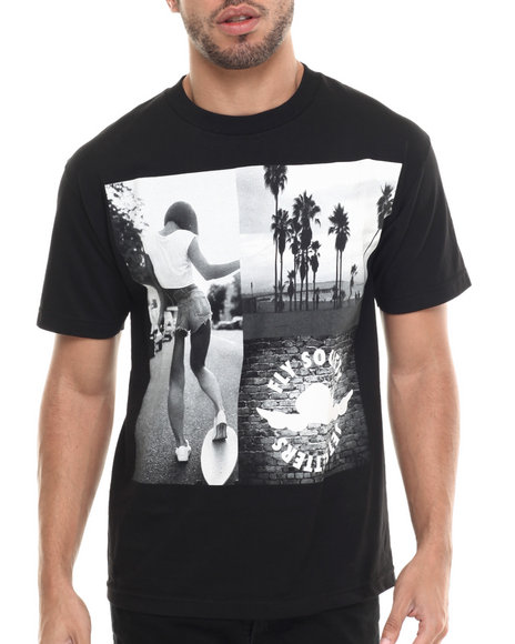 Flysociety - Men Black The Longboard T-Shirt