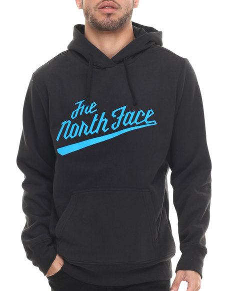 The North Face - Men Black Retro Script Pullover Hoodie