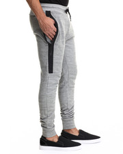 Men - Dark Heather Melange Premium Tech Fleece Jogger Pants