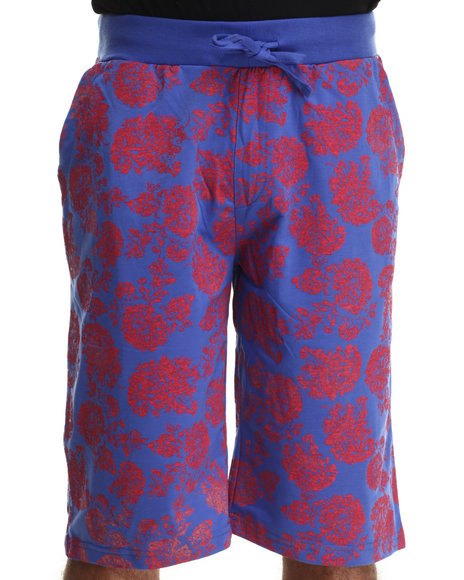 Enyce - Men Blue Floral Printed Shorts