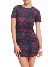 Women - Plaid Ponte Knit Tee Dress