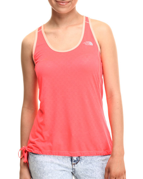 Ur-ID 215442 The North Face - Women Orange Eat My Dust Breathable Mesh Tank