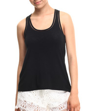 Fashion Lab - Heathered Oversize TANK tOP