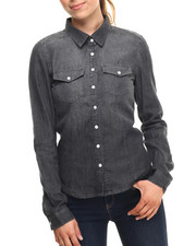 ALI & KRIS - Denim Western Shirt