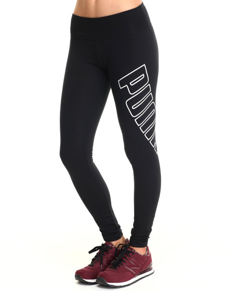 Ur-ID 215447 Puma - Women Black Logo Leggings