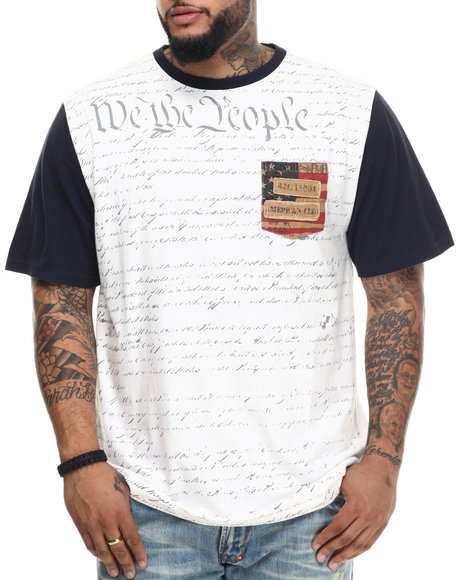Ur-ID 215300 Winchester - Men Off White Two Tone We The People Tee (B&T)