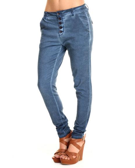 Ur-ID 215481 Bianco Jeans - Women Blue Premium Chino Boyfriend Skinny