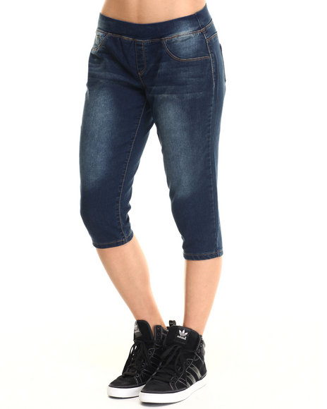 Basic Essentials Dark Wash Capris