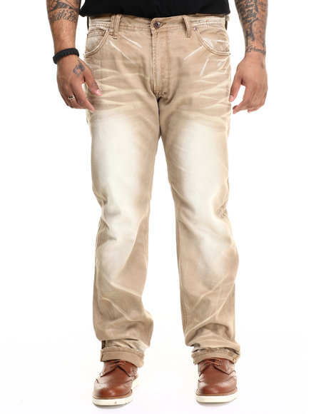 AKOO - Men Khaki Glory Relaxed Fit Jeans