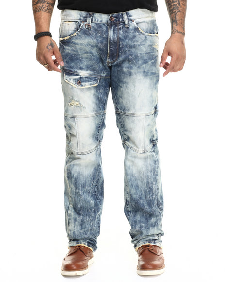 Ur-ID 215525 AKOO - Men Medium Wash Vulpes Slim Fit Jeans