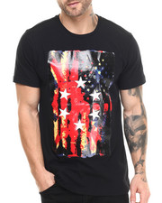Men - 3D Rubber Star Print s/s tee
