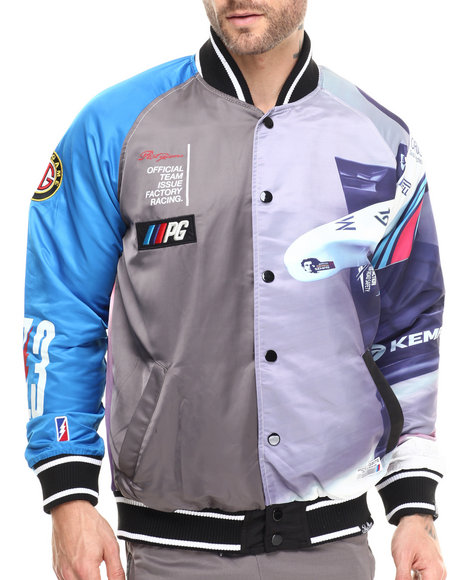 Ur-ID 215508 Post Game - Men Multi Pit Crew Nylon Varsity Jacket