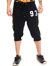 Men - Floral Perforated mesh jogger shorts