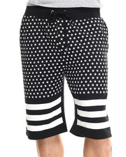 Men - 3D Rubber Star print drawstring shorts