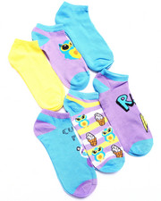Accessories - Conversational Print 6Pk No Show Socks
