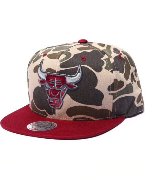 Ur-ID 223089 Mitchell & Ness - Men Camo Chicago Bulls Camo Edition Custom Snapback Hat (Drjays.Com Exclusive)