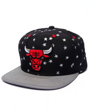 Mitchell & Ness - Chicago Bulls Retro All Over Stars Edition Custom Snapback Hat (Drjays.com Exclusive)