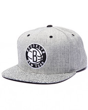 Mitchell & Ness - Brooklyn Nets Heathered & Pebbled Edition Custom Snapback Hat (Drjays.com Exclusive)