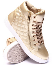 Fashion Lab - Perry Quilted Side Zip High Top Sneaker