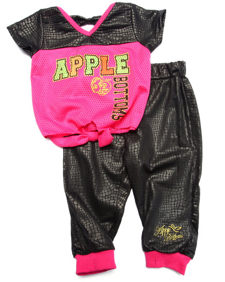 Apple Bottoms - Girls Black 2 Pc Jogger Set (Infant) - $11.99