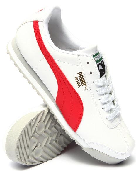 Ur-ID 215562 Puma - Men White Roma Lo Sneakers