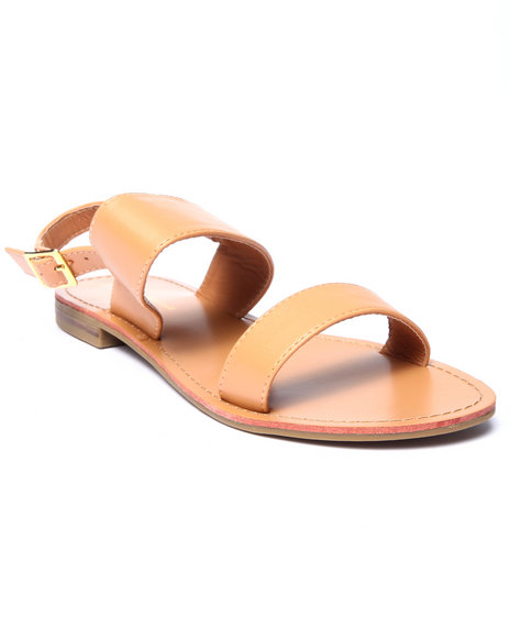 Fashion Lab - Women Tan Ken Open Toe Flat Sandal
