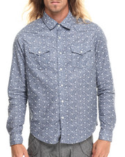 Buyers Picks - Faded Floral print L/S Button Down Shirt