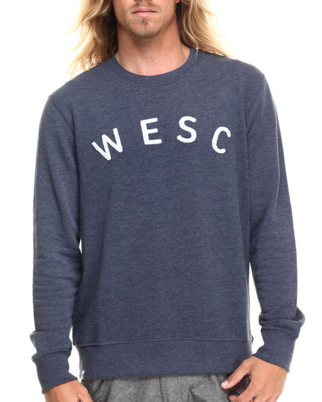 Dark Blue Pullover Sweatshirts