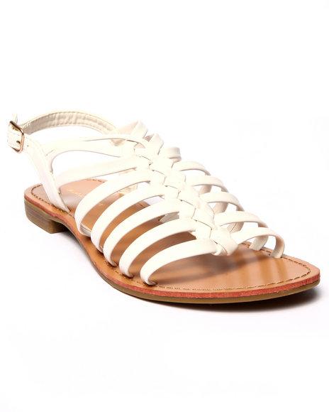 Ur-ID 215593 Fashion Lab - Women White Ken Low Strappy Gladiator Sandal