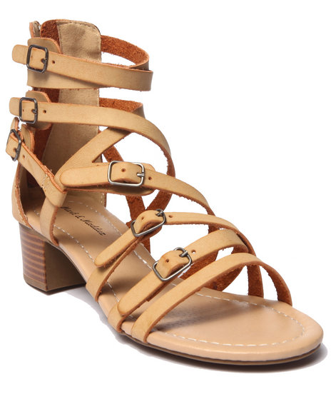 Ur-ID 215596 Fashion Lab - Women Tan Stanley Strappy Block Heel Sandal