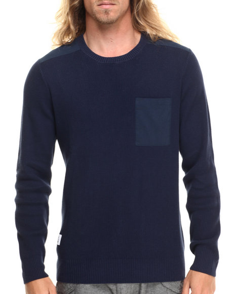 Wesc - Men Navy Kayden Pocket L/S Knit Shirt